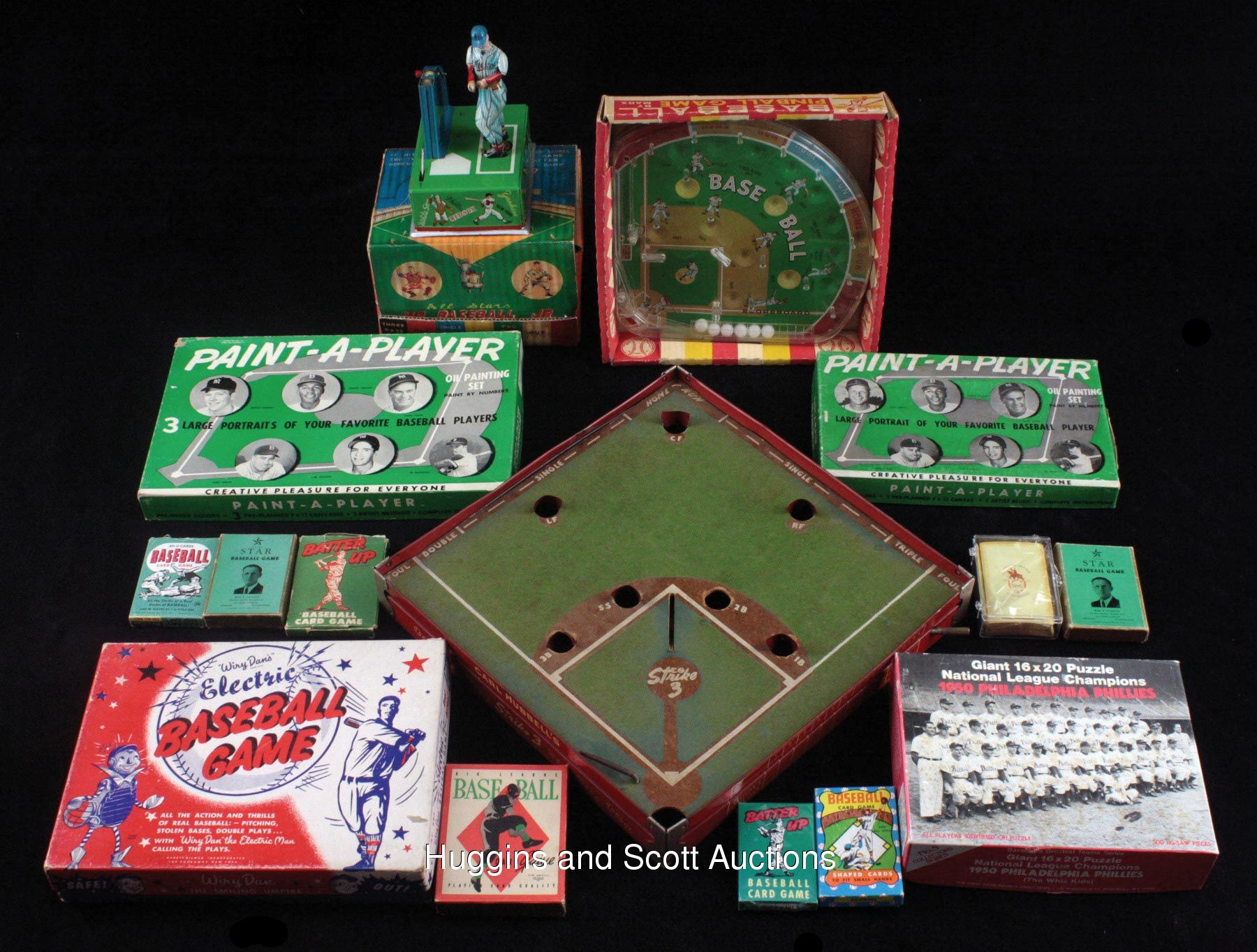 Vintage Baseball Board And Card Game Lot Of 23