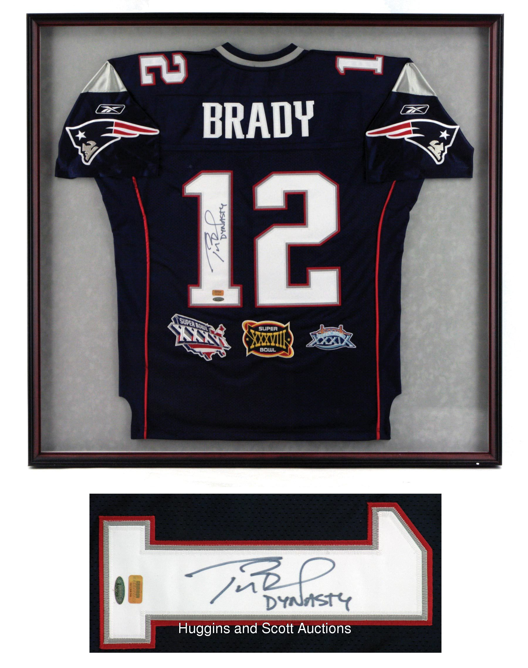 framed tom brady jersey